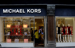 SUMMER SALE AT MICHAEL KORS STORE royalty free stock photos