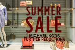 Summer Sale At Michael Kors Store stock photography