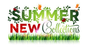 Summer sale new collections poster Stock Photography