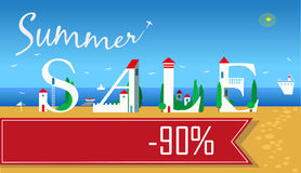 Summer Sale. Ninety percents Stock Image