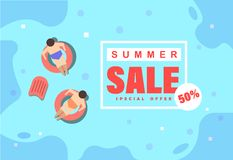 Summer sale off  illustration royalty free illustration