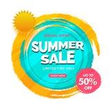 Summer sale 50% off, poster, banner or flyer designs. Summer sale 50% off, poster, flyer or banner designs Stock Illustration