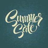 Summer sale.  Original handwritten calligraphy Stock Photo