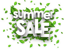 Summer sale paper background. Royalty Free Stock Image