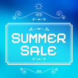 Summer Sale Paper Title Royalty Free Stock Image