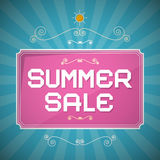 Summer Sale Paper Title Stock Images