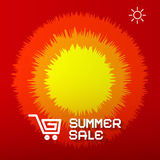 Summer Sale Paper Title Royalty Free Stock Images