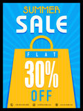 Summer Sale Poster, Banner or Flyer design. Stock Photography
