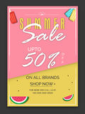 Summer Sale Poster, Banner or Flyer design. Stock Photography