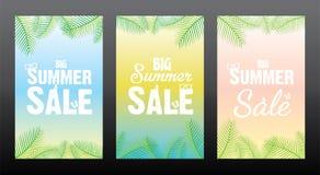 Summer sale poster design. Big summer sale template poster design Royalty Free Stock Photo