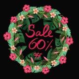 Sale poster discount 60% percent off. Summer Sale poster discount 60% percent off, special offer. Promotion banner vector illustration