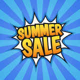 Summer sale poster Royalty Free Stock Photos