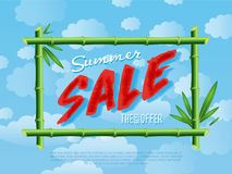 Summer sale poster for retail network Stock Photography