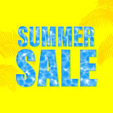 Summer Sale poster with underwater light wallpaper background. Royalty Free Stock Photos