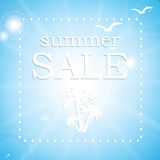 Summer sale poster Royalty Free Stock Photo
