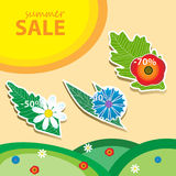 Summer sale pricetags. Vector illustration in eps 10 fromat Royalty Free Stock Photography