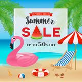 Summer sale promotion banner background Royalty Free Stock Photos