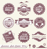 Summer Sale Retail Labels and Stickers. Collection of summer season sale labels and stickers Royalty Free Stock Images