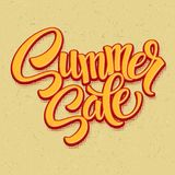Summer sale. Retro pop art style. Vector Royalty Free Stock Images