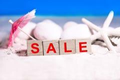 Summer sale season. Summer season, sale discount and promotion concept decoration Stock Image