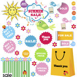 Summer sale set Stock Photography