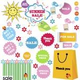 Summer sale set Stock Photography