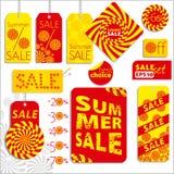 Summer sale set Royalty Free Stock Photos