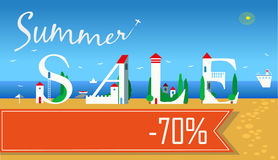 Summer Sale. Seventy percents off Royalty Free Stock Photography