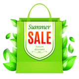 Summer Sale Shopping Bag Stock Images