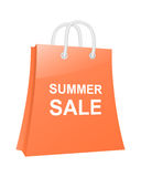 Summer sale shopping bag. Stock Photos