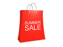 Summer sale shopping bag on the white background Royalty Free Stock Image