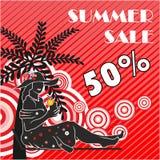 Summer sale shopping design. Stock Image