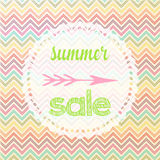 Summer sale sign chevron Royalty Free Stock Photo