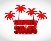 Summer sale sign illustration design Royalty Free Stock Images