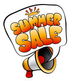 Summer Sale speech bubble. Royalty Free Stock Photo