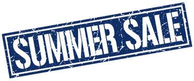 Summer sale square stamp. Summer sale square grunge stamp Stock Image