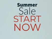 Summer sale start now banner. Summer sale srart start now banner buy sell royalty free stock images