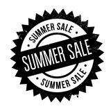 Summer sale stamp. Grunge design with dust scratches. Effects can be easily removed for a clean, crisp look. Color is easily changed Stock Photo