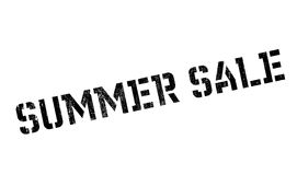 Summer sale stamp. Grunge design with dust scratches. Effects can be easily removed for a clean, crisp look. Color is easily changed Stock Image