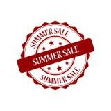 Summer sale stamp illustration. Summer sale red stamp seal illustration design Stock Photo