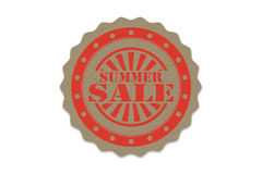 Summer sale stamp on paper.  Royalty Free Stock Image