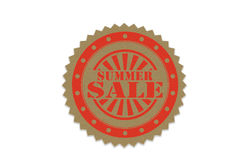 Summer sale stamp on paper.  Stock Photography