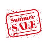 Summer sale stamp red Stock Photo