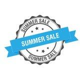 Summer sale stamp illustration. Summer sale stamp seal illustration design Stock Photography