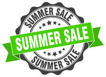 Summer sale stamp. Sign. seal Royalty Free Stock Images