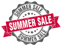 Summer sale stamp. Sign. seal Stock Photo