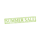 SUMMER SALE stamp sign. SUMMER SALE stamp vector grunge design with scratches. Color is easily changed Royalty Free Stock Image