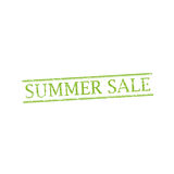 SUMMER SALE stamp sign. SUMMER SALE stamp vector grunge design with scratches. Color is easily changed Royalty Free Stock Photography