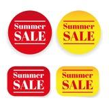 Summer sale sticker label Royalty Free Stock Photo