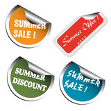Summer Sale Stickers Stock Images